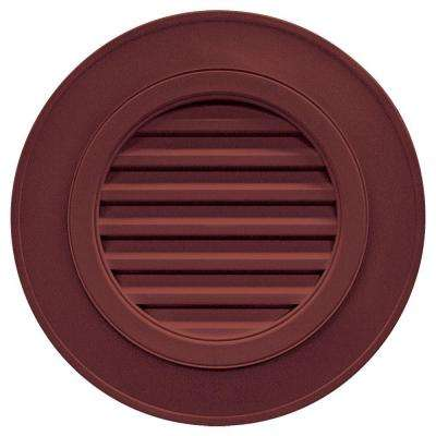 28 in. Round Gable Vent in Wineberry (without Keystones)