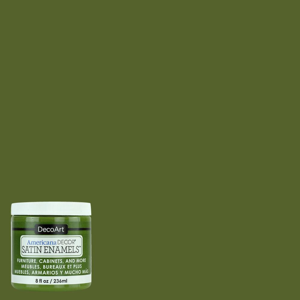8 oz. Woodland Green Satin Enamel Paint