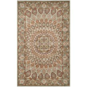 safavieh heritage bluegrey 5 ft x 8 ft area rughg914b5 the home depot