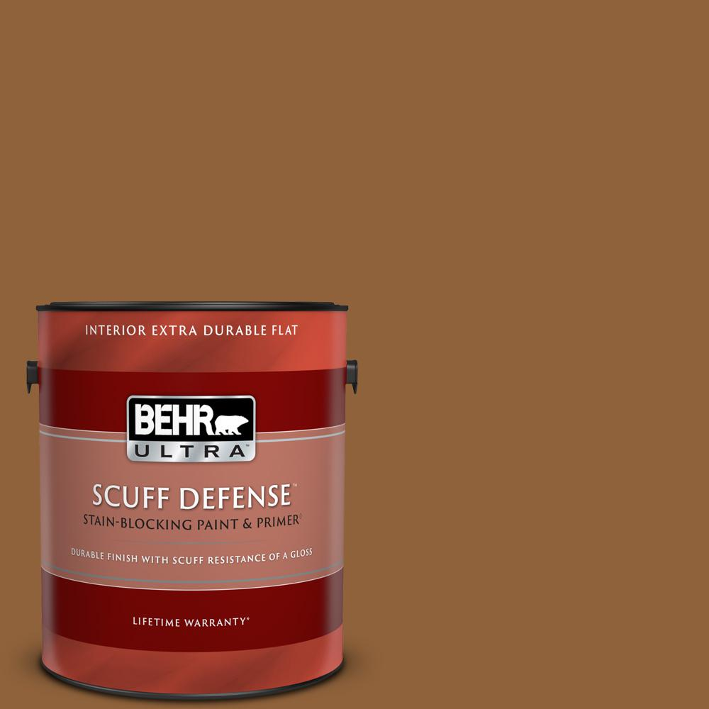 Behr Ultra 1 Gal S250 7 Moroccan Spice Extra Durable Flat Interior Paint And Primer In One 172301 The Home Depot