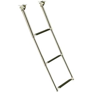 Top Mount 2 Step Stainless Steel Fold Up Telescoping Ladder for Boats