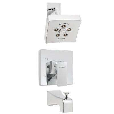 The Edge Single-Handle 3-Spray Tub and Shower Faucet in Polished Chrome (Valve Included)