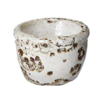 2 in. Rustic White Earthenware Tea Light Candle Holder