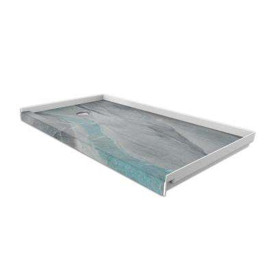 30 in. x 60 in. Single Threshold Shower Base with Left Hand Drain in Triton