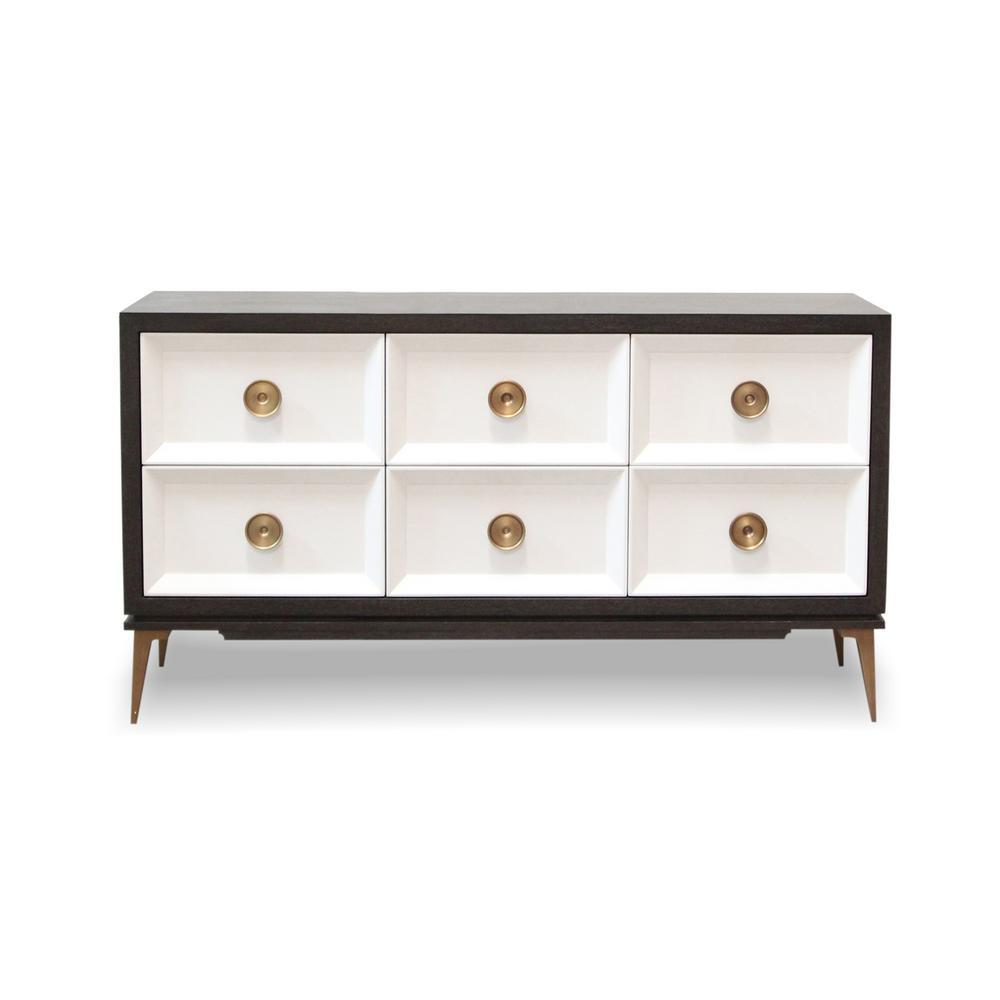 Paloma Ebony and Blanco Black/White Console Cabinet