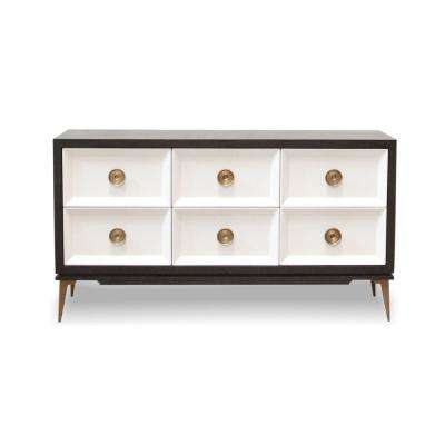 Paloma Ebony and Blanco Black/White Console Cabinet