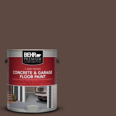 1 gal. #N170-7 Baronial Brown 1-Part Epoxy Concrete and Garage Floor Paint