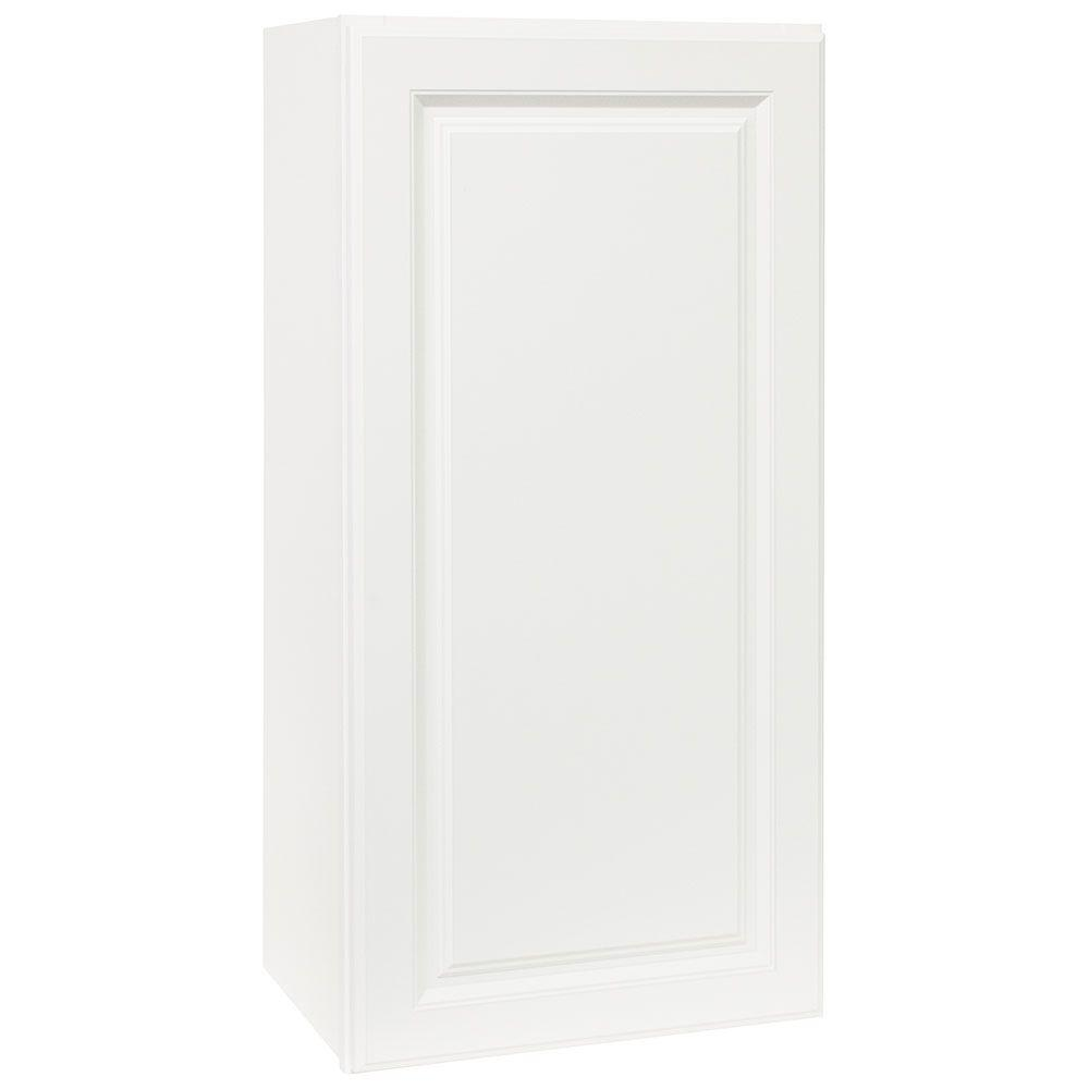 Hampton Assembled 18x36x12 in. Wall Kitchen Cabinet in Satin White
