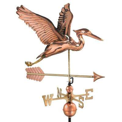 Blue Heron with Arrow Weathervane-Pure Copper