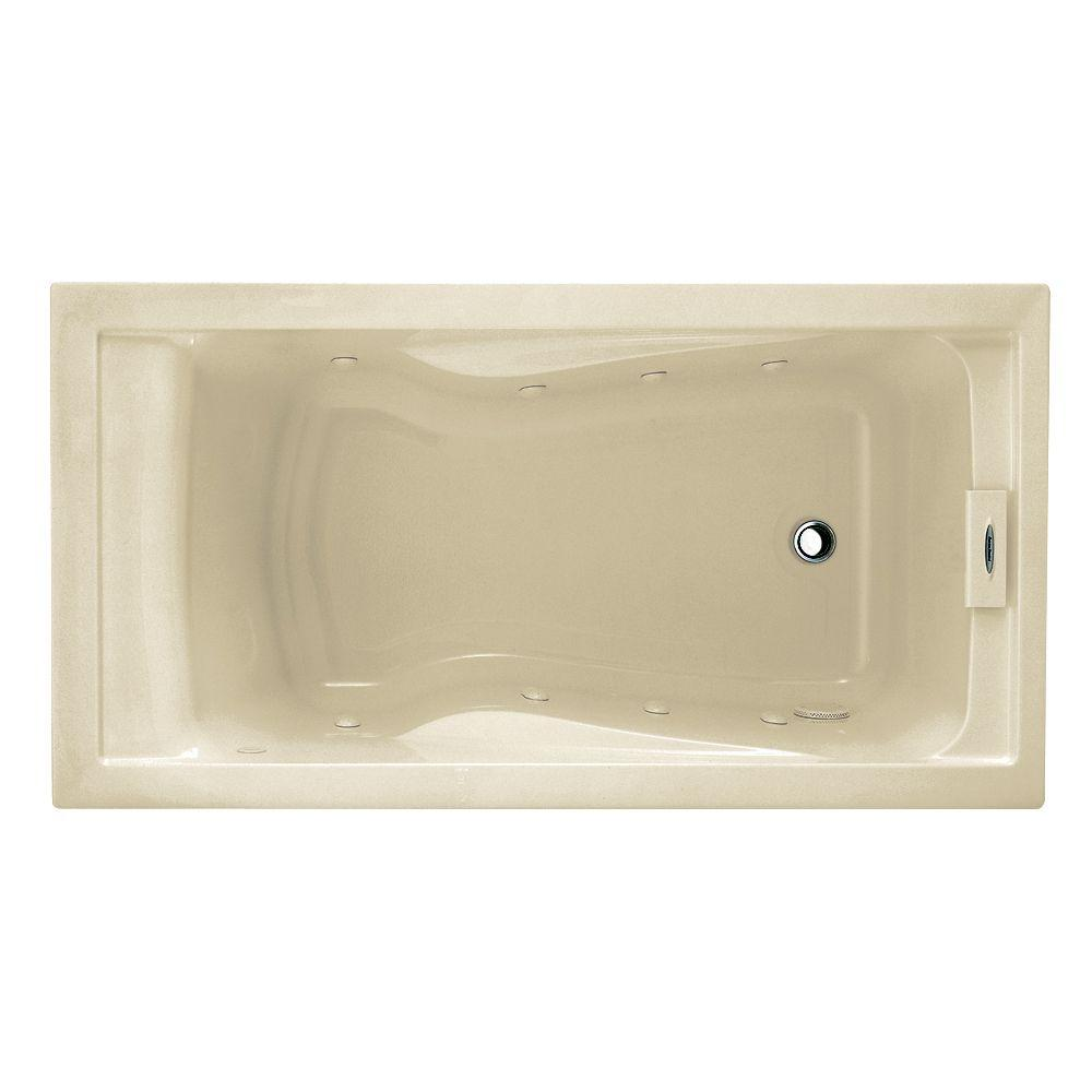 American Standard EverClean 60 in. x 32 in. Reversible Drain Whirlpool Tub in Linen