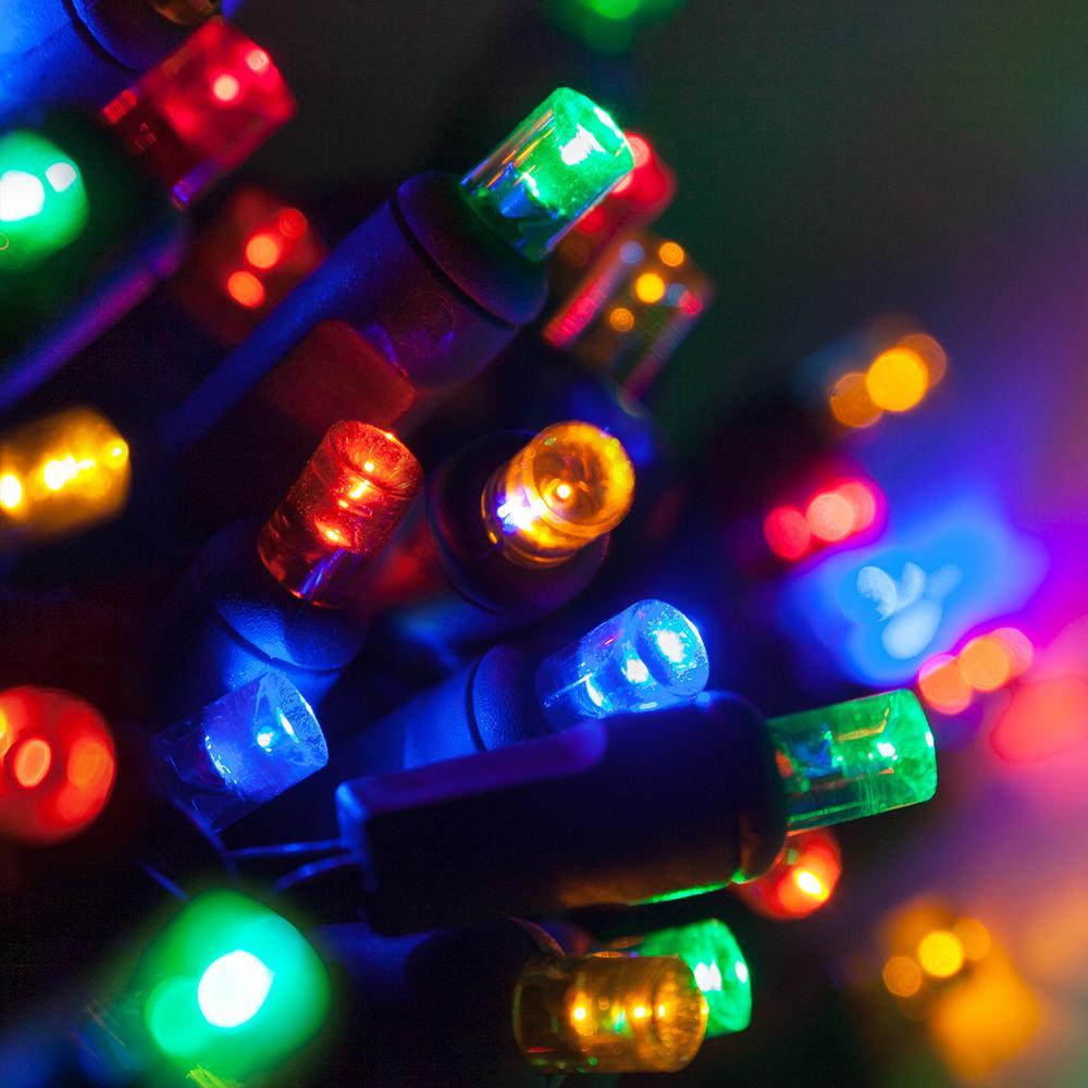 24 ft. 70-Light Multicolor 5 mm LED Mini Light Set