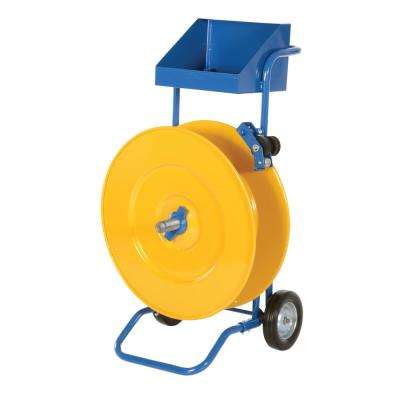 25 in. x 21 in. x 43 in. Steel and Poly Strapping Cart