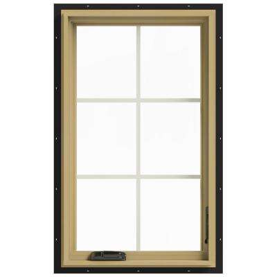 24 in. x 40 in. W-2500 Right Hand Casement Aluminum Clad Wood Window