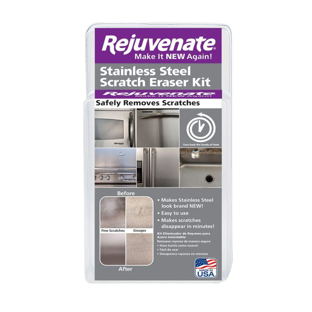 Rejuvenate Stainless Steel Scratch Eraser Kit. Rejuvenate Stainless Steel Scratch Eraser Kit RJSSRKIT   The Home