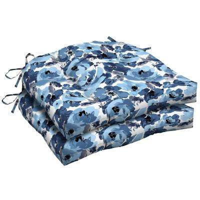 Garden Delight Tufted Square Outdoor Seat Cushion (2-Pack)