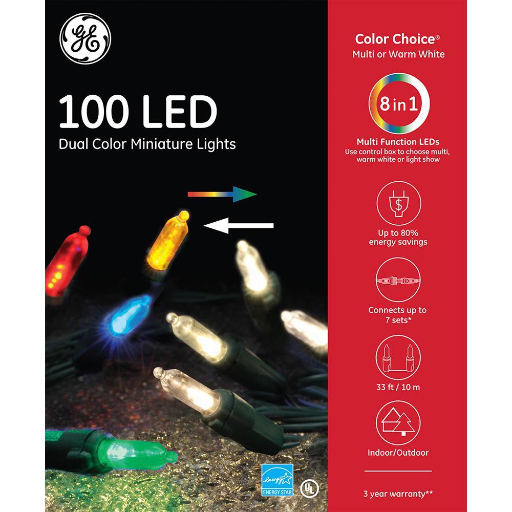 Color Choice Dual Color (Warm White/Multi) LED 100-Light Set