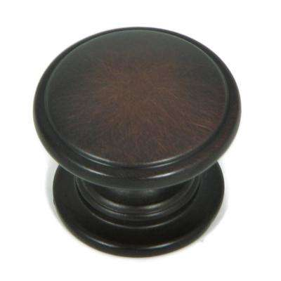 Saybrook 1-1/4 in. Oil Rubbed Bronze Round Cabinet Knob (10-Pack)