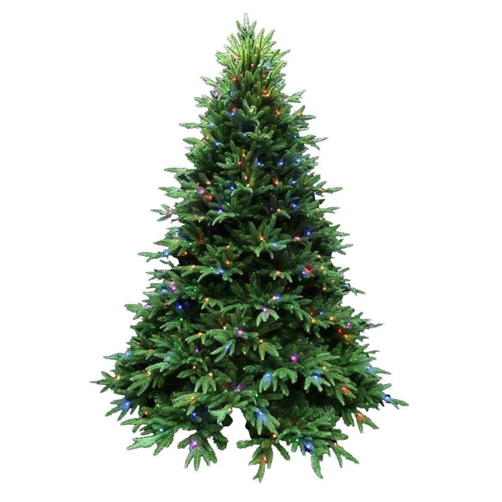 santas best 75 ft splendor spruce ez power artificial christmas tree with 660 42 function led lights and remote control 2245001ho the home depot - Best Pre Lit Christmas Tree