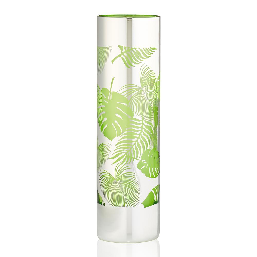 16 oz. Tropical Leaves Tom Collins Glass (Set of 4)