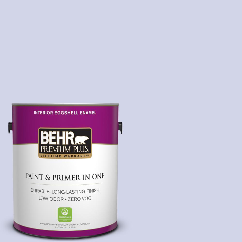BEHR Premium Plus 1-gal. #T12-17 Violet Water Zero VOC Eggshell Enamel Interior Paint
