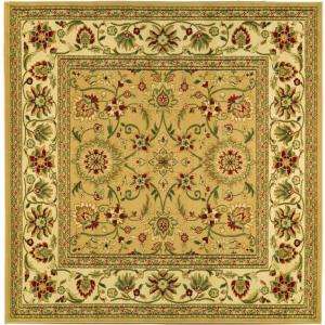 lyndhurst beigeivory 6 ft x 6 ft square area rug - Square Area Rugs