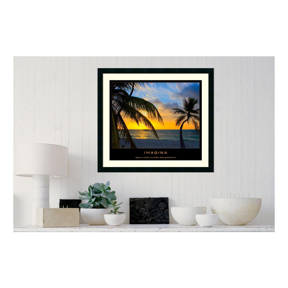 30.25 in. W x 27.13 in. H Imagina' Printed Framed Wall