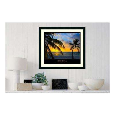 30.25 in. W x 27.13 in. H Imagina' Printed Framed Wall Art