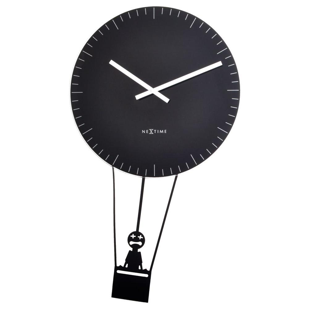 Nextime Flying Time 29.13 in. x 16.93 in. Pendulum Glass Wall Clock-DISCONTINUED