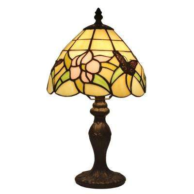 15 in. Tiffany Style Floral Mini Table Lamp