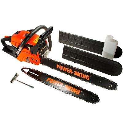 20 in. and 16 in. 45cc Heavy Duty Gas Chainsaw Combo, Antivibe System
