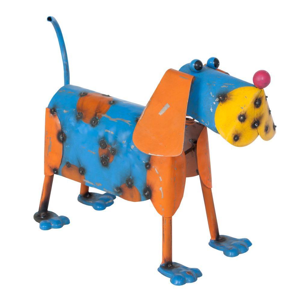 La Hacienda 10.24 in. H x 15.35 in. W x 7.08 in. D Multi-Colored Duke the Dog
