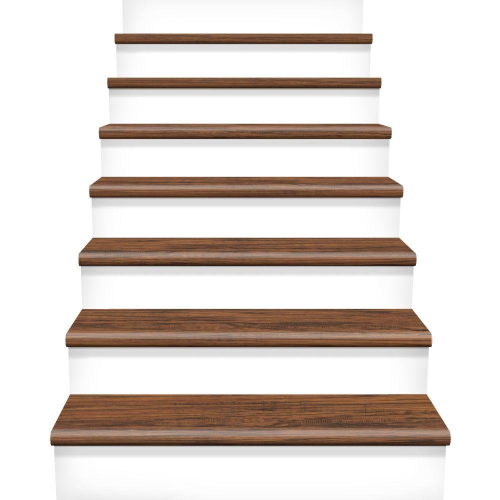 Height Laminate Cover Stairs 1 in Thick Cap A Tread Highland Hickory 47 in