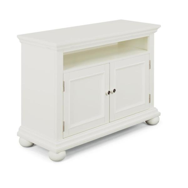 Dover 44 in. White Wood TV Stand Fits TVs Up to 50 in. with Storage Doors