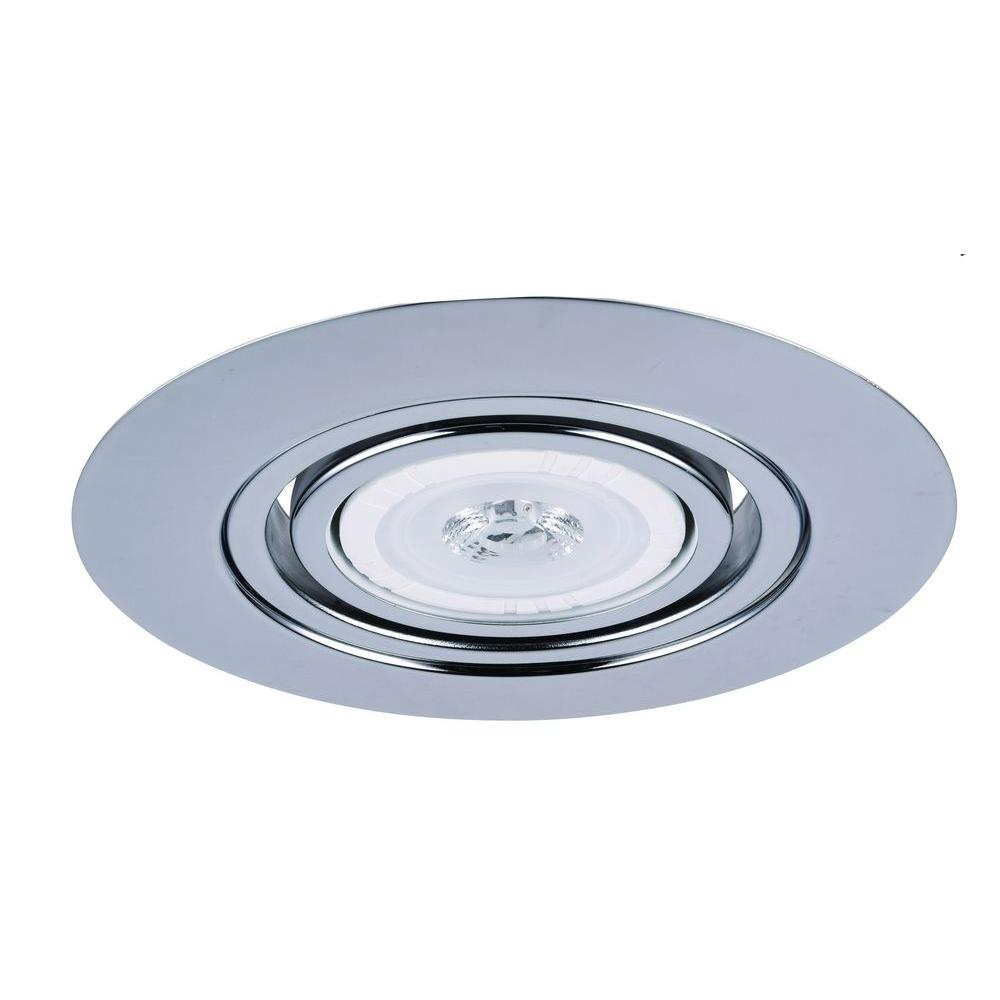 6 Inch Par30 Adjustable Gimbal Ring Trim White Recessed: Elegant Lighting 6 In. Chrome Recessed Gimbal Trim-RE317CH