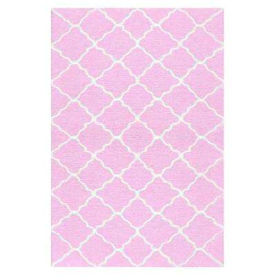 Lattice Pink 3 ft. x 5 ft. Indoor Area Rug