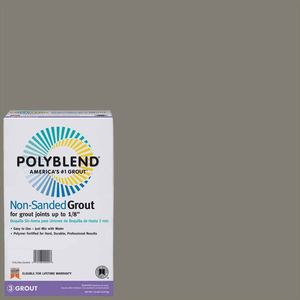 Polyblend #165 Delorean Gray 10 lb. Non-Sanded Grout