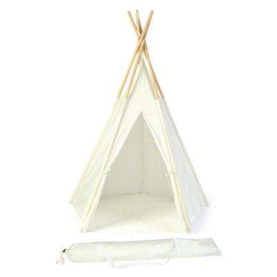5 ft. Teepee With Carry Case - New Zealand Pine in White