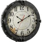 Bulova 17 In H X 17 In W Round Metal Wall Clock With Maritime Porthole Design C4823 The Home Depot