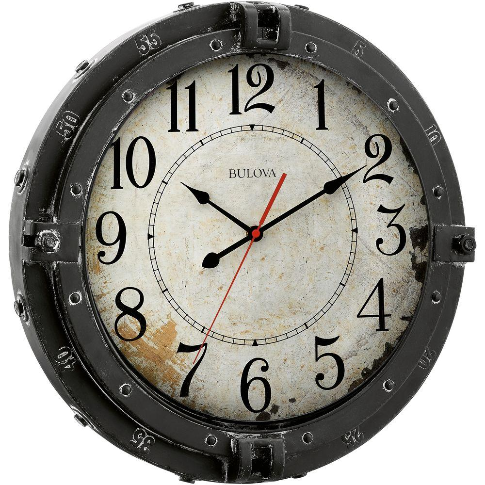 17 in. H x 17 in. W Round Metal Wall Clock
