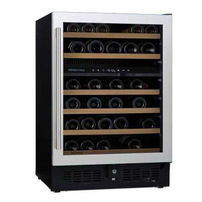 N'FINITY PRO S Dual Zone 46-Bottle 23.75 in. Wine Cellar Stainless Steel Door