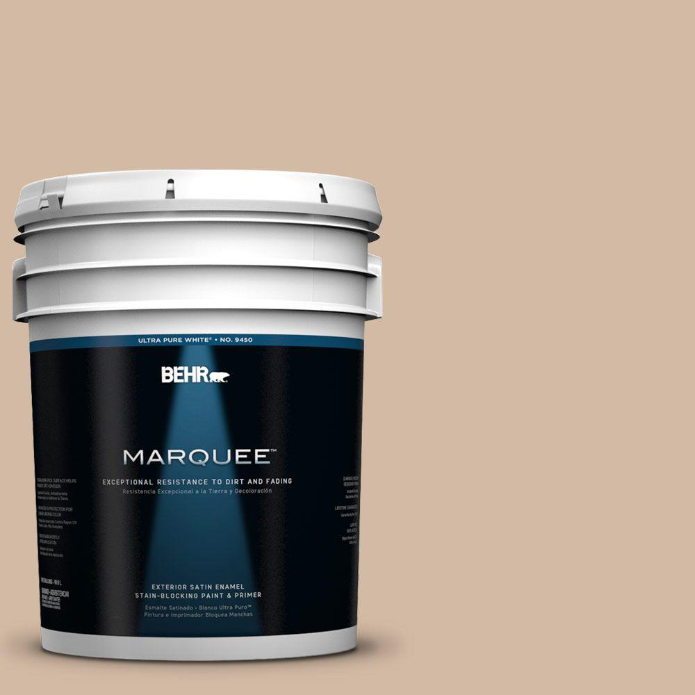 BEHR MARQUEE 5-gal. #290E-3 Classic Taupe Satin Enamel Exterior Paint