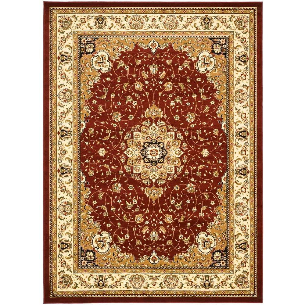 Safavieh Lyndhurst Red Ivory 8 Ft 11 In X 12 Ft Area