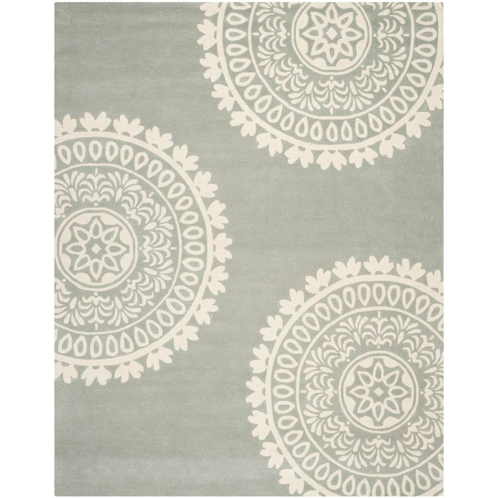 Safavieh Bella Grey Ivory 8 Ft X 10 Ft Area Rug Bel121a 8 The