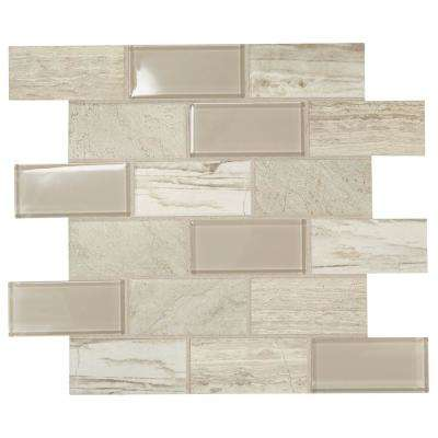 Premier Accents Beach Brick Joint 11 in. x 13 in. x 6 mm Glass Mosaic Wall Tile (0.9 sq. ft. / piece)