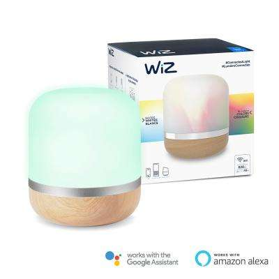 Hero 7.2 in. Woodtone Colors and Tunable White Wi-Fi Connected Smart LED Table Lamp