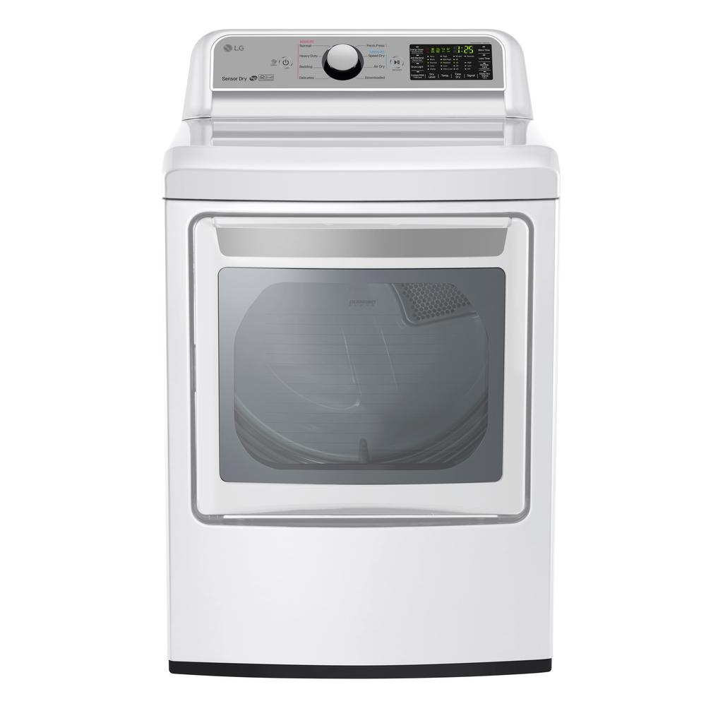 7.3 cu. ft. Smart Electric Dryer with WiFi Enabled in White,