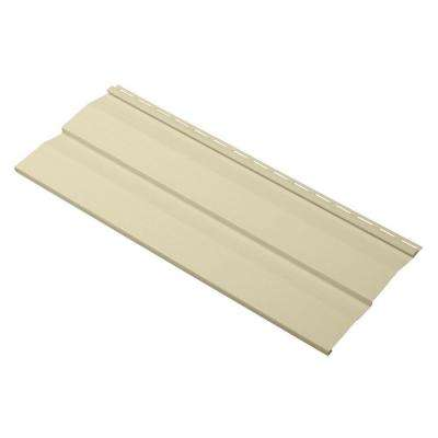 Progressions Double 4.5 in. x 24 in. Dutch Lap Vinyl Siding Sample in Sand
