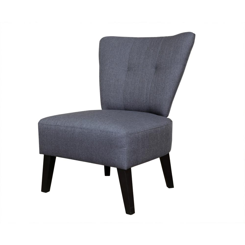 Superieur Sitswell Maddie Gray Contemporary Barrel Back Accent Chair