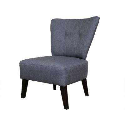 Maddie Gray Contemporary Barrel-Back Accent Chair