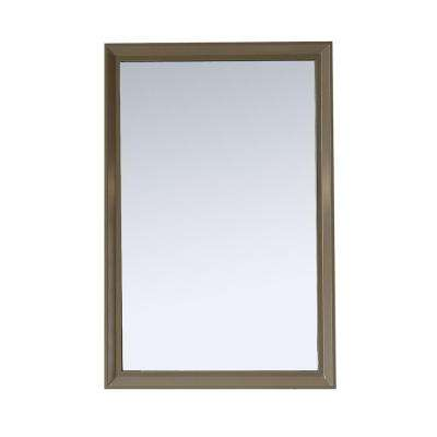Parrish 24 in. x 36 in. Framed Wall Mirror in Mushroom